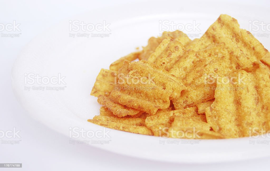Closeup of Multigrain Chips royalty-free stock photo