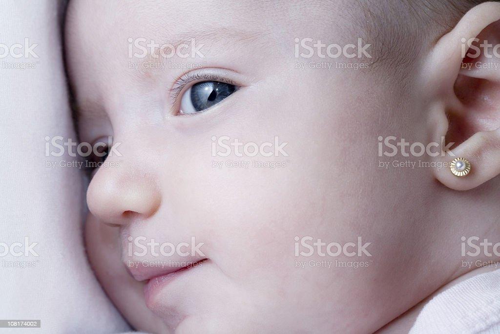 Nahaufnahme des Neugeborenen Babys – Mädchen – Foto