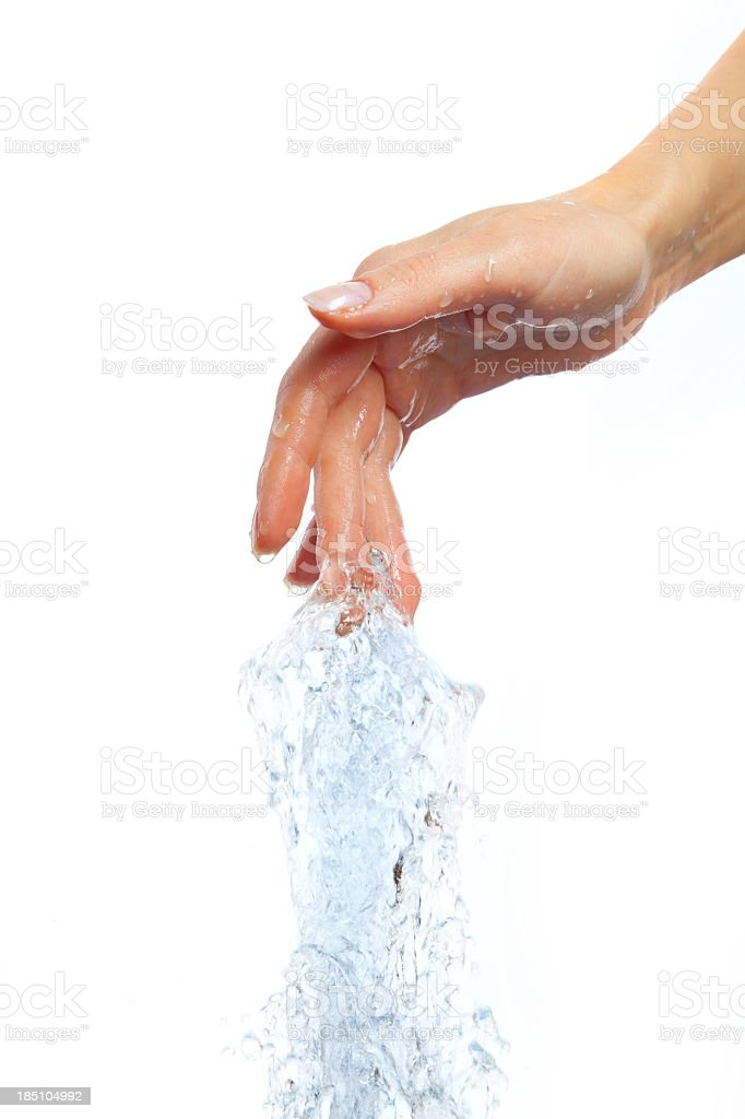 Closeup of nice wet hand stock photo