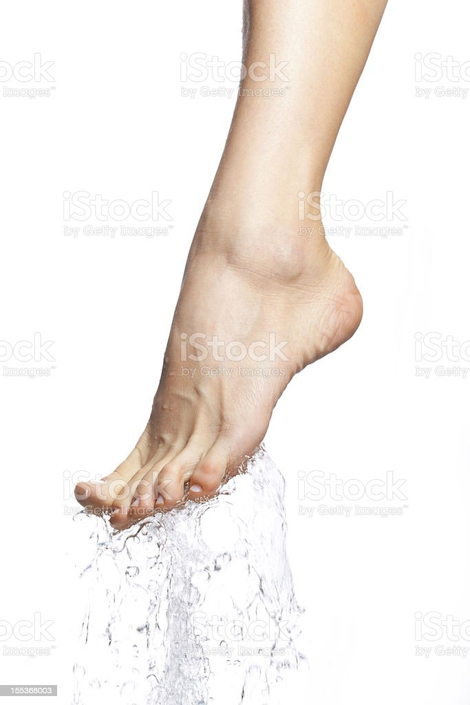 Closeup of nice wet legs stock photo