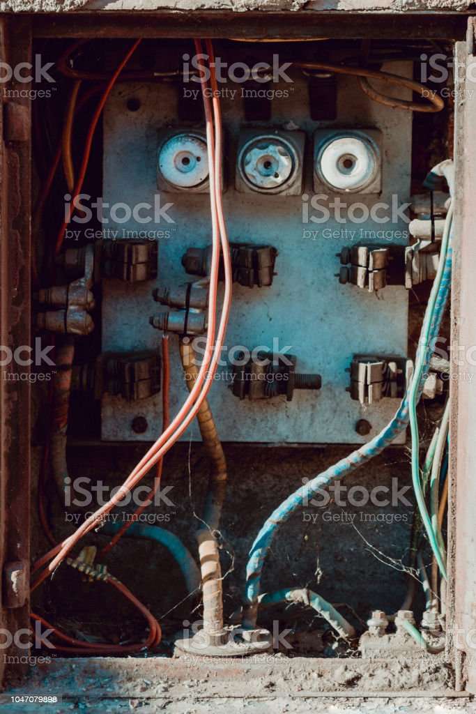 Fabulous Closeup Of Old Electrical Distribution Board With Three Porcelain Wiring 101 Cranwise Assnl