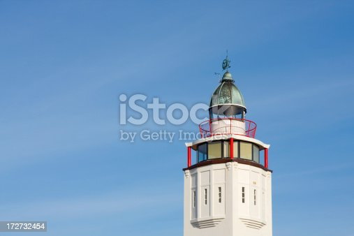 172424642 istock photo Close-up of old restored lighthouse 172732454