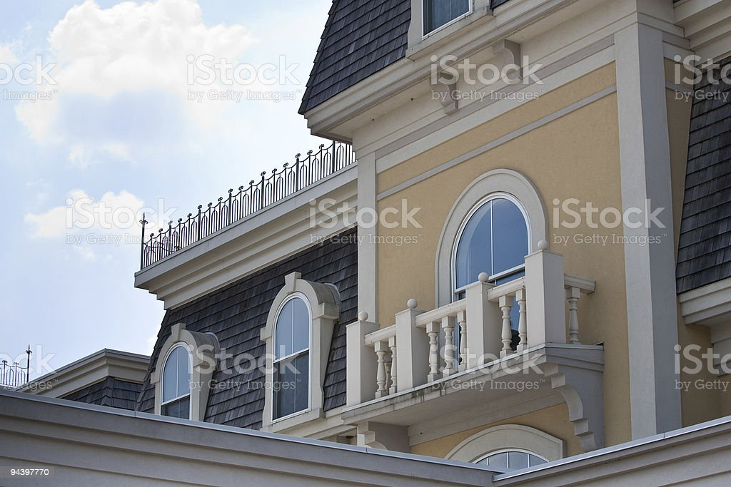 Closeup of old style 'Second Empire' building royalty-free stock photo
