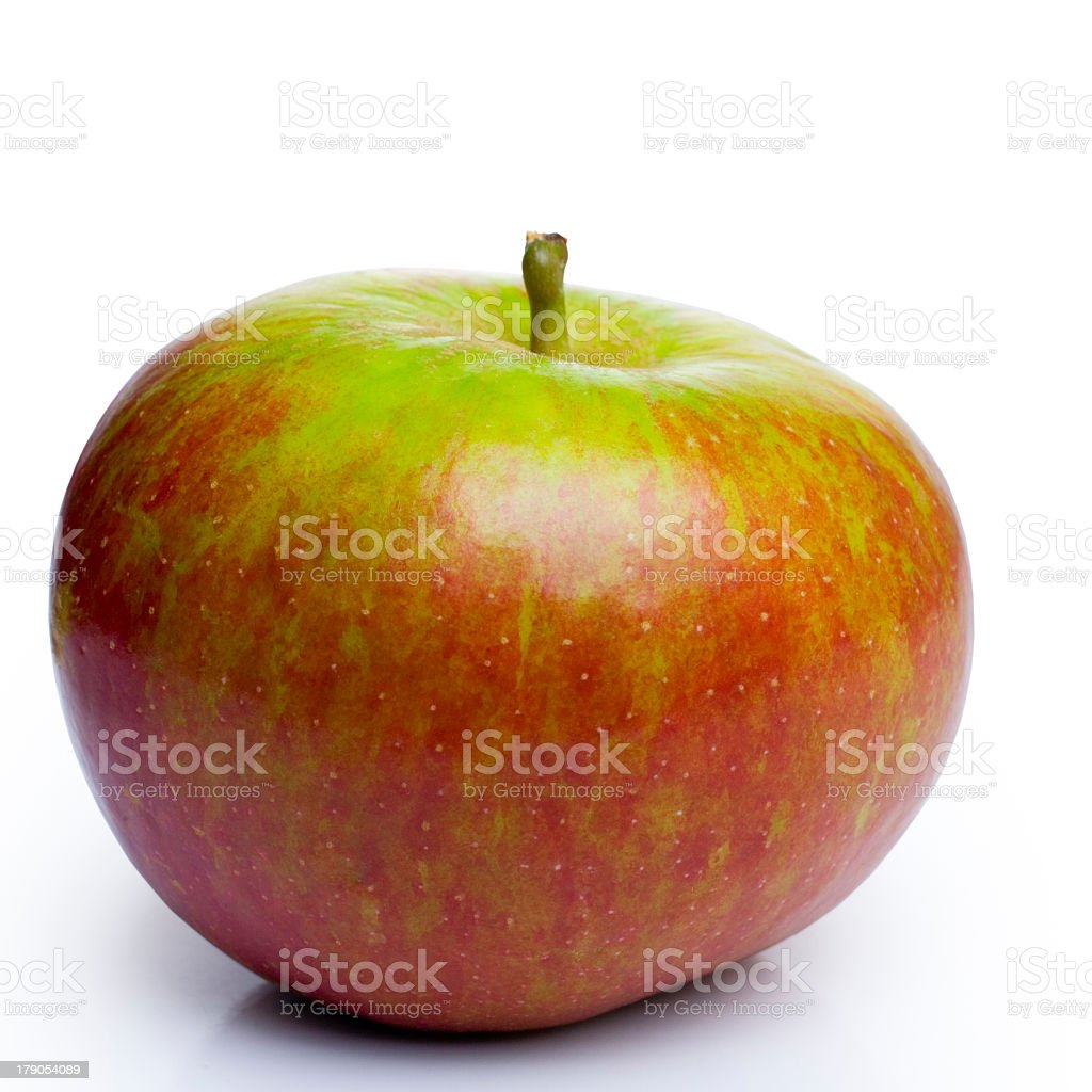 A close-up of one apple on a white background royalty-free stock photo