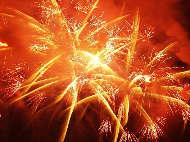 Feuerwerk, Nahaufnahme – Foto
