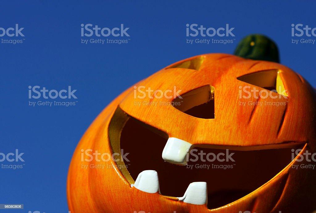 Close-up of orange pumpkin royalty-free stock photo