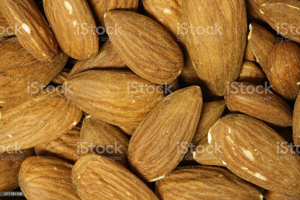 Close-up of organic Almonds royalty-free stock photo