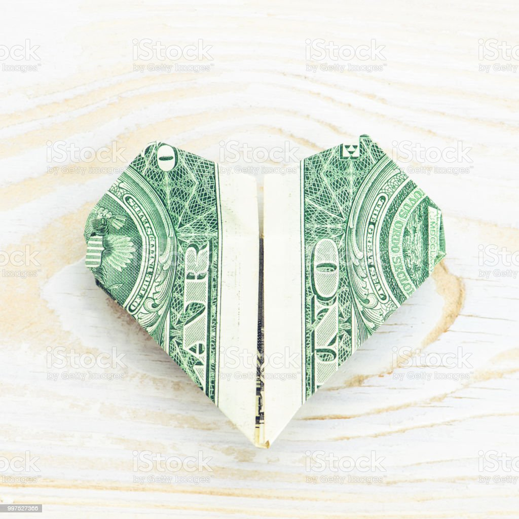Decorative Money Origami Heart: Video Tutorial and Picture ... | 1024x1024