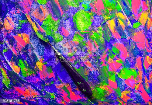 istock Closeup of palette and palette knife 508181756