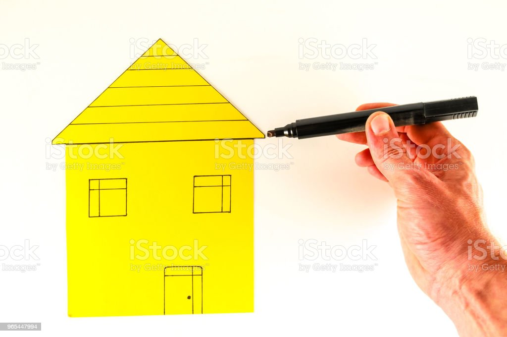 Close-up of paper house royalty-free stock photo
