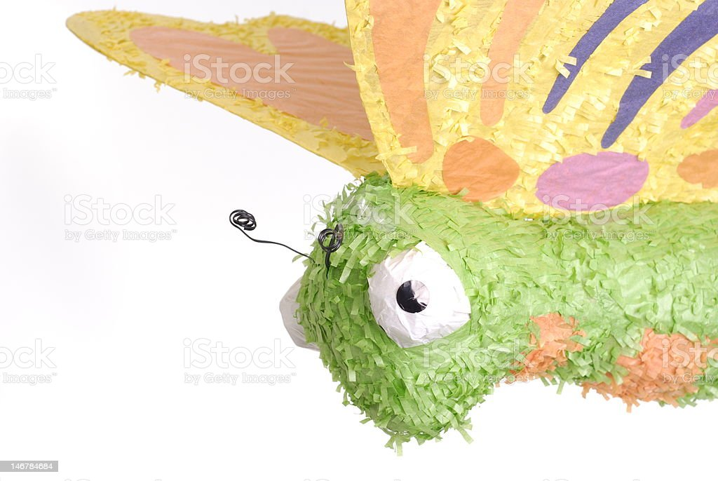 Close-up of Paper Mache Butterfly stock photo