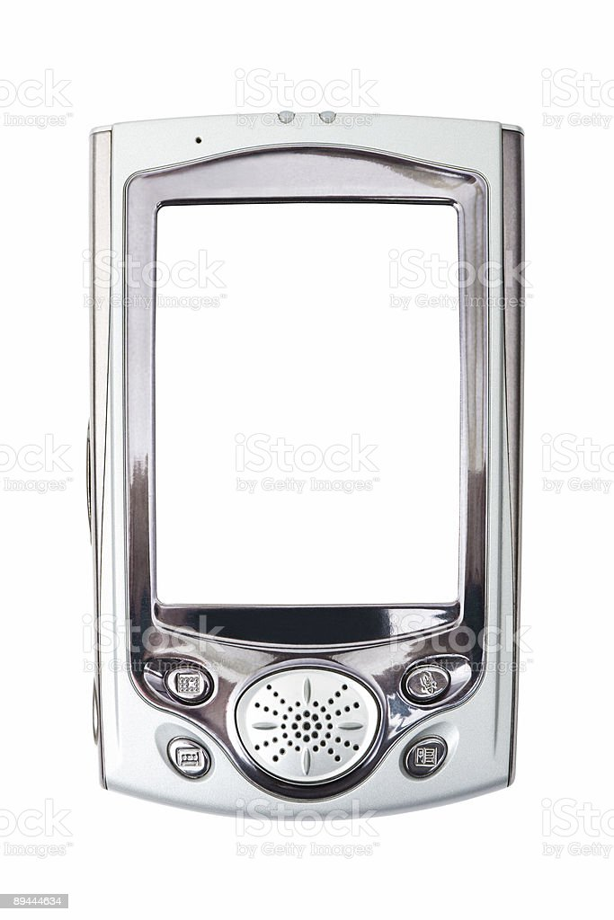 Close-up of PDA royalty-free stock photo