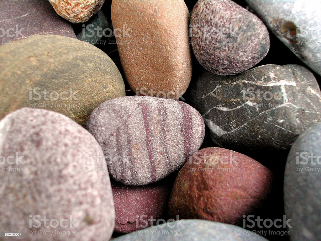 Close-up of pebbles stones royalty-free stock photo
