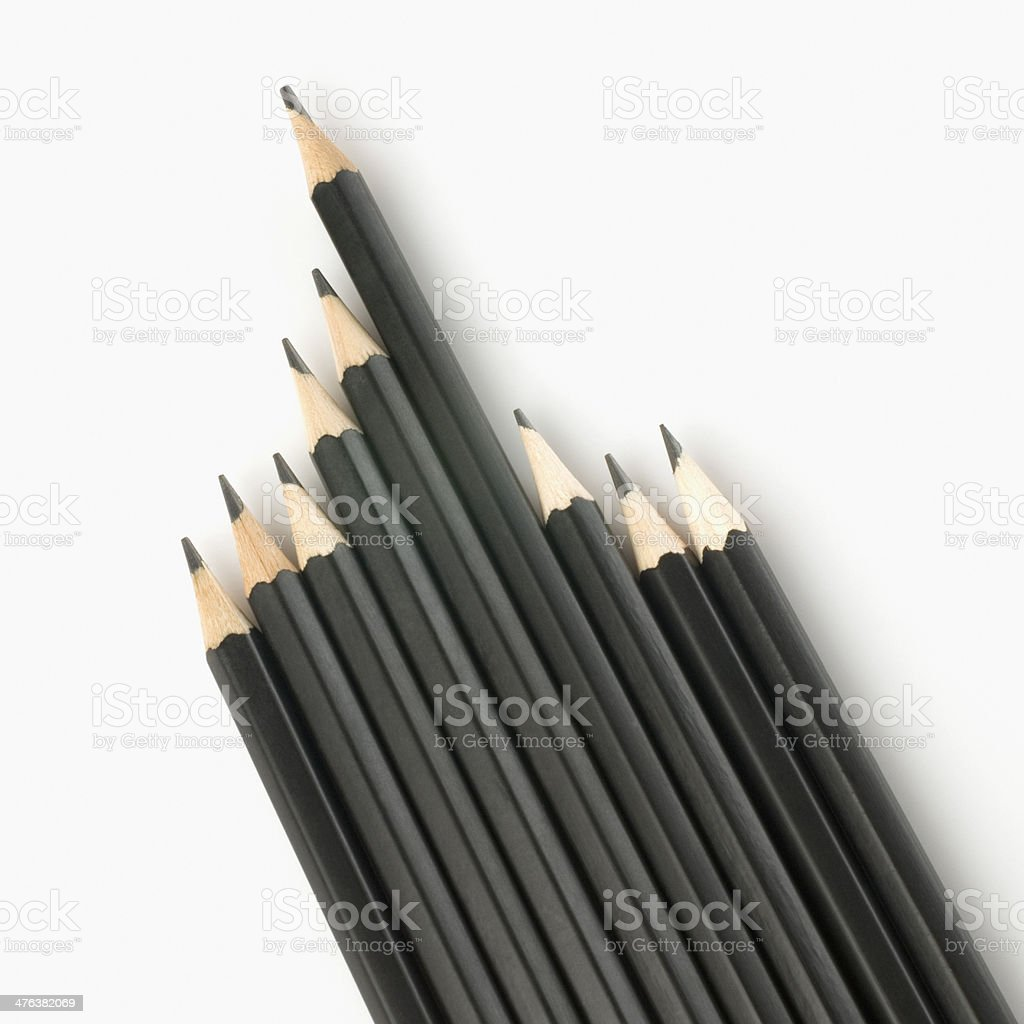 Close-up of pencils royalty-free stock photo