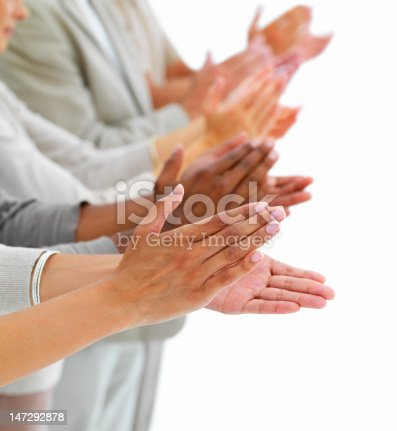 istock Close-up of people clapping hands 147292878