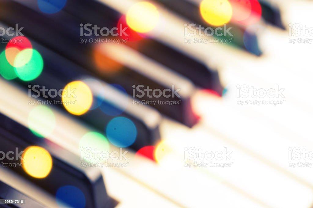 Close-up of piano keyboard. stock photo