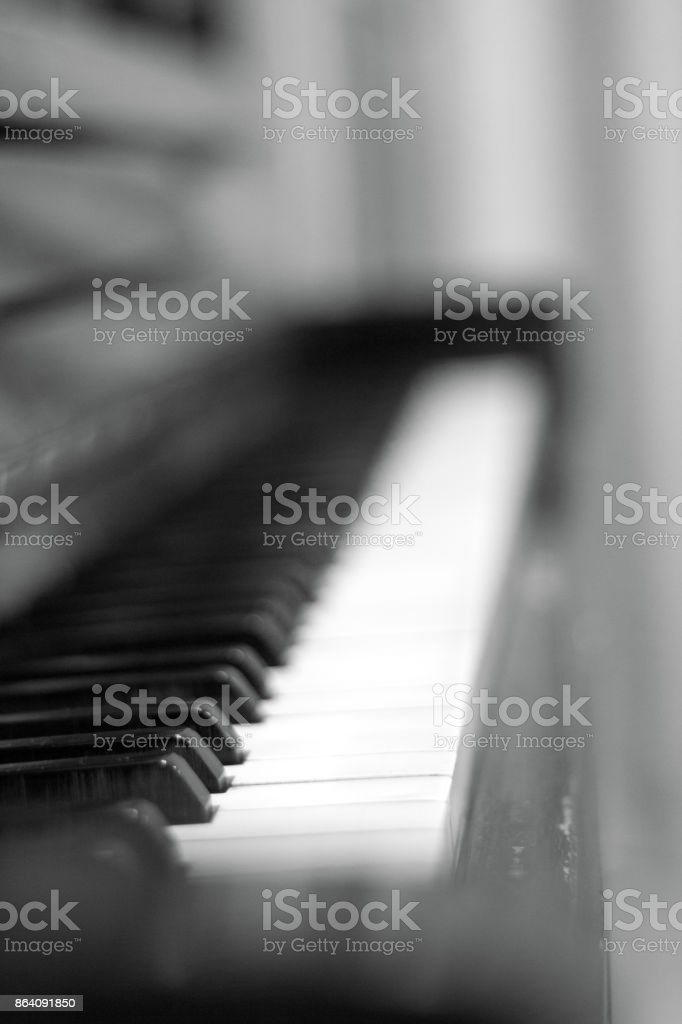 close-up of piano keys. close frontal view. . royalty-free stock photo