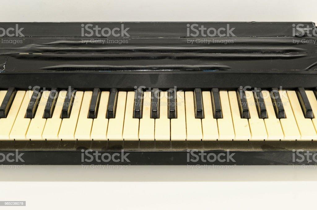 close-up of piano keys royalty-free stock photo
