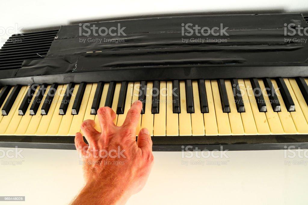 close-up of piano keys zbiór zdjęć royalty-free