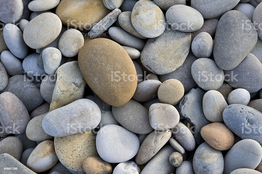Close-up of pile of rocks taken from birds-eye-view stock photo