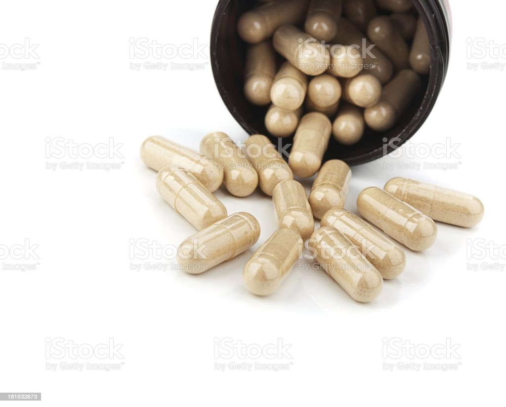 closeup of pills isolated royalty-free stock photo