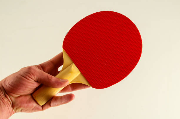 close-up of ping pong racket - table tennis racket stock pictures, royalty-free photos & images