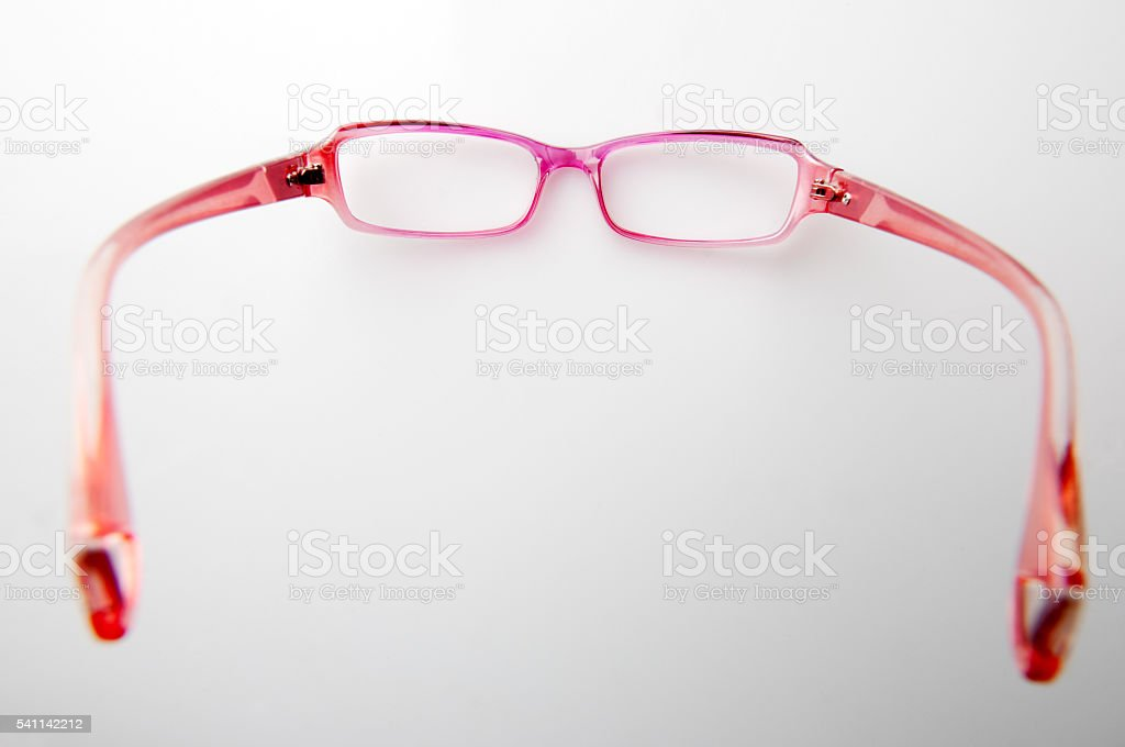 Closeup of pink glasses - Photo