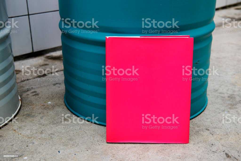 Closeup of pink paper design space stock photo