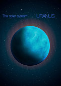 Solar System - Planet Uranus. Elements of this image furnished by NASA