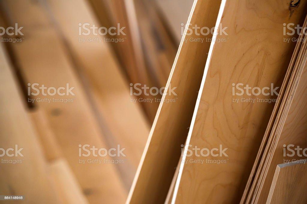 Close-up of plywood sheets royalty-free stock photo