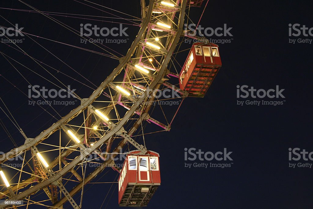 Close-up of portion of giant Ferris wheel in Vienna royalty-free stock photo