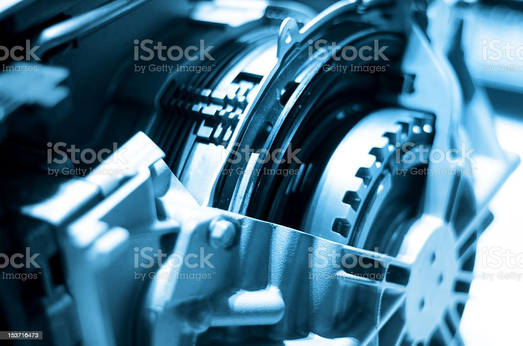 Close-up of portions of an automotive engine royalty-free stock photo