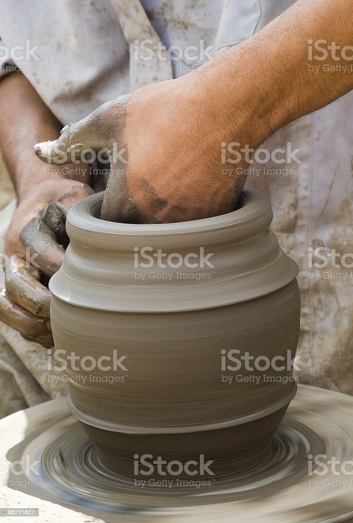 Close-up of potter royalty-free stock photo