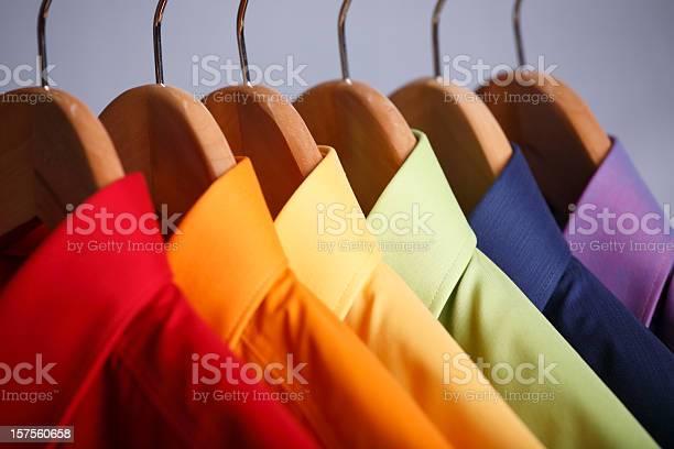 Closeup of rainbow shirt collars hanging in closet picture id157560658?b=1&k=6&m=157560658&s=612x612&h=noxt1roqf8bzx6evpk 4r0gu7ns rjrw npwjkayxry=