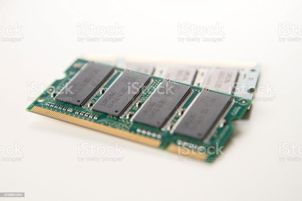 Closeup of Ram Chips stock photo