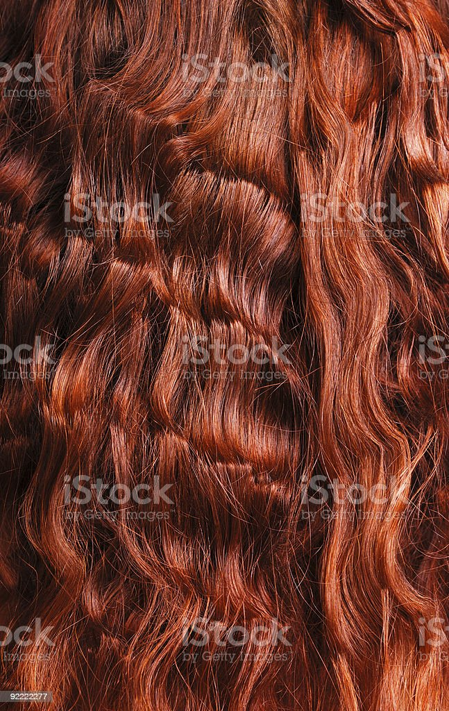Close-up of red curly hair royalty-free stock photo