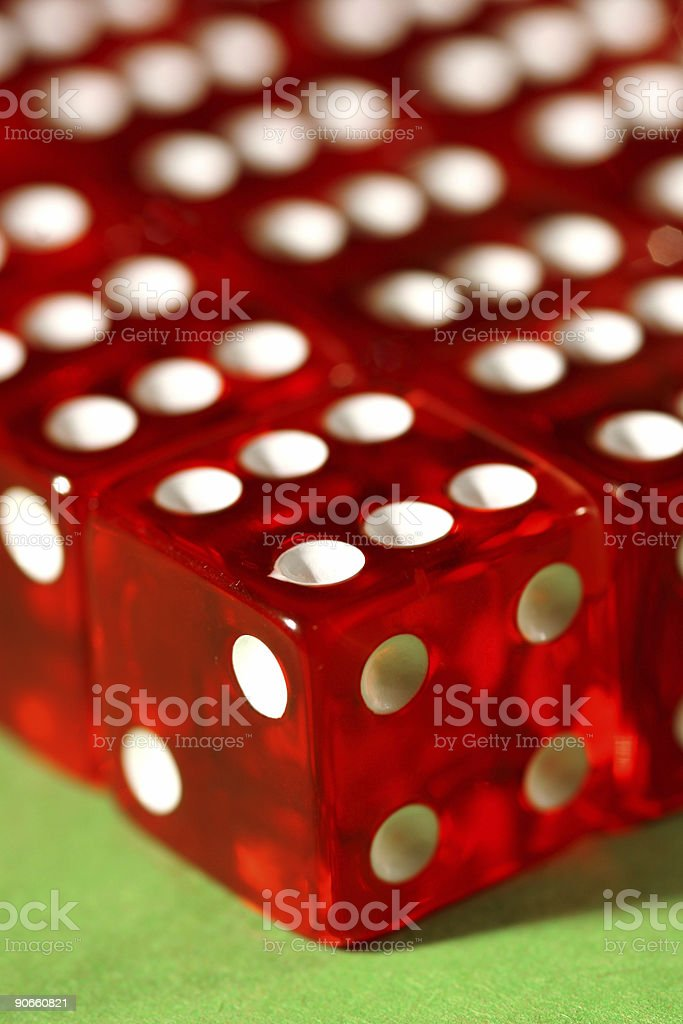 Close-up of red dice stock photo