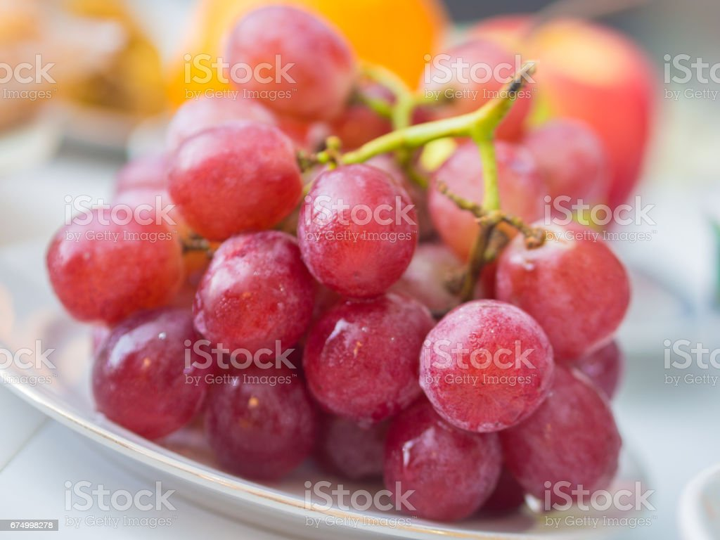 Closeup of Red Grapes stock photo