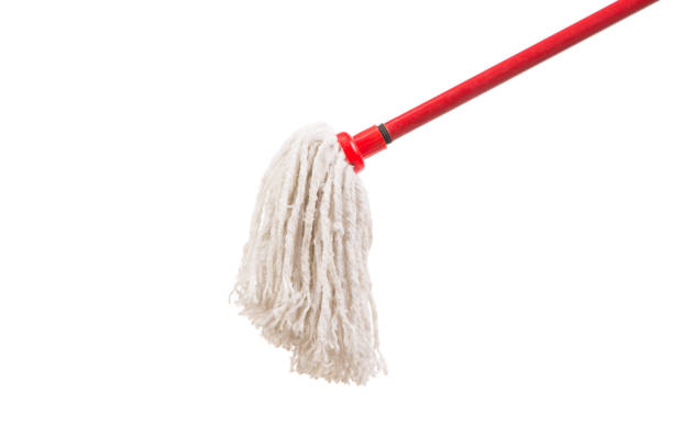 Closeup of red mop for cleaning. Closeup of red mop for cleaning. Isolated on a white background. mop stock pictures, royalty-free photos & images