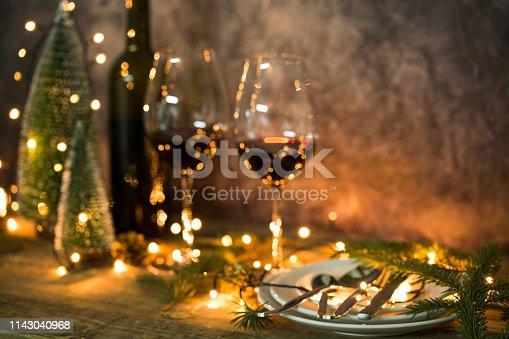 Christmas table, Selective focus