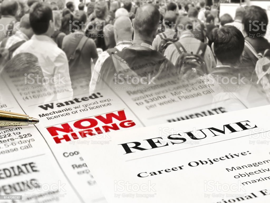 Closeup Of Resume On Newspaper Stock Photo Download Image Now Istock