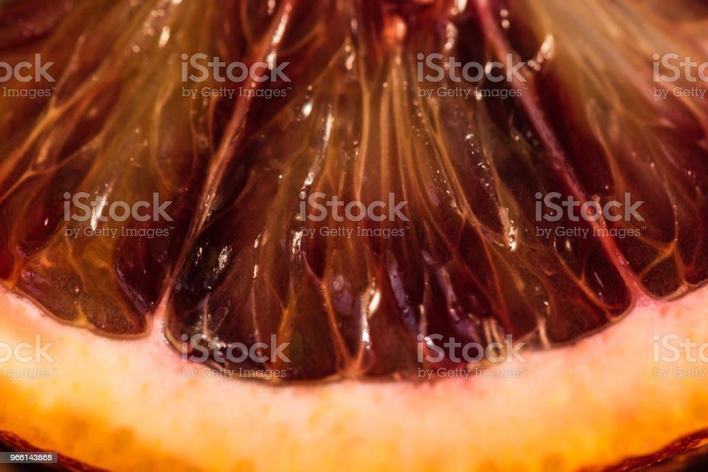 Close-up van rijpe sappige Siciliaanse bloedsinaasappelen - Royalty-free Achtergrond - Thema Stockfoto