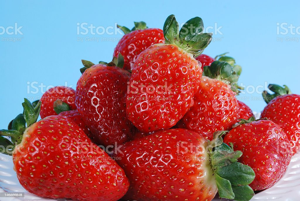 closeup of ripe strawberries royalty-free stock photo