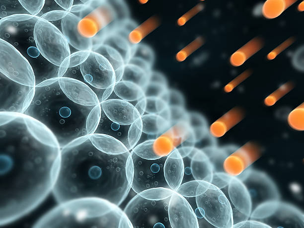 Close-up of rows of free radicals free radicals high scale magnification stock pictures, royalty-free photos & images