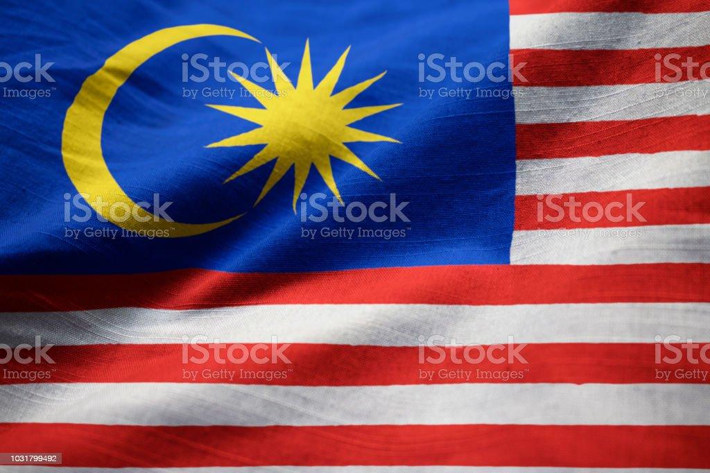 Closeup da bandeira de Malaysia babados - foto de acervo