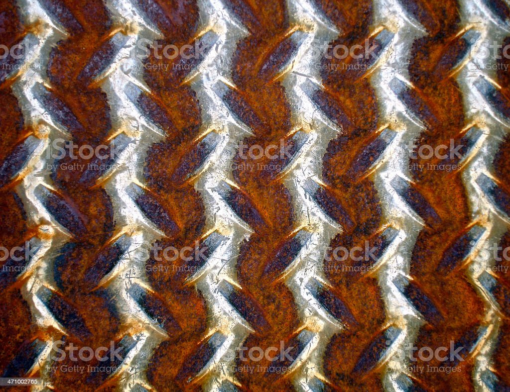 Closeup of rusty metal plate royalty-free stock photo