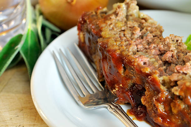 closeup of sage meatloaf - mike cherim stock pictures, royalty-free photos & images