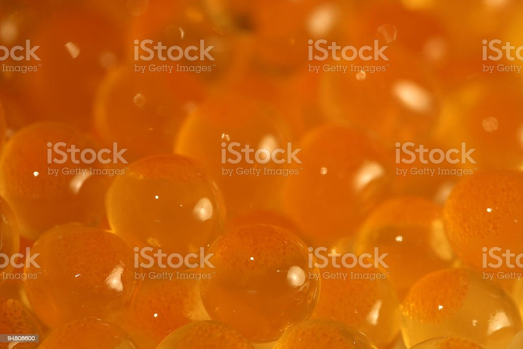 Closeup of Salmon Caviar stock photo