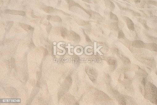 678719470 istock photo closeup of sand pattern of a beach in the summer 678719248