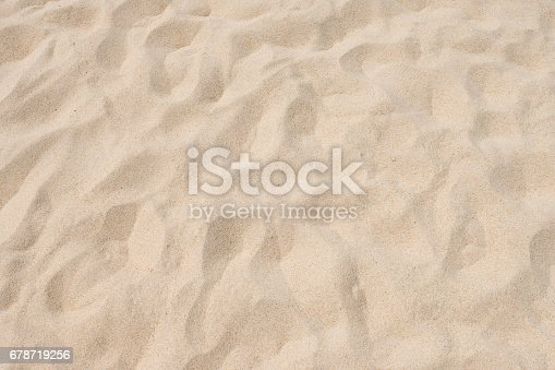 678719470 istock photo closeup of sand pattern of a beach in the summer 678719256